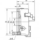 CODICE  875 NUOVO MANDRINO AUTOCENTRANTE DI PRECISIONE DIAM 220 mm  3+3+3 GRIFFE A GUIDA DOPPIA NUOVO MOD M770/200