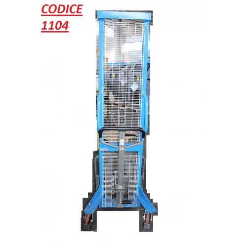 CODICE. 1104 NUOVO Sollevatore per pallet con freno e pedale di sollevamento  portata 1.000 kg