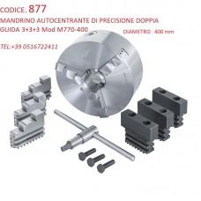 CODICE 1554 NUOVO MANDRINO AUTOCENTRANTE DI PRECISIONE 3+3+3 GRIFFE A GUIDA DOPPIA